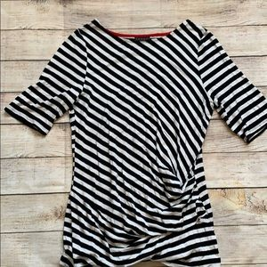 Striped shirt with Rusche on the side